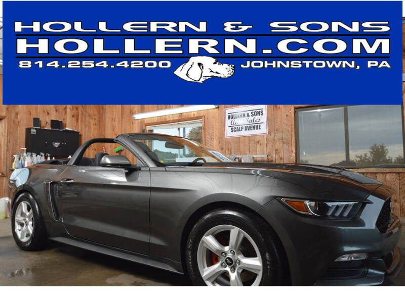 2017 Ford Mustang for sale at Hollern & Sons Auto Sales in Johnstown PA