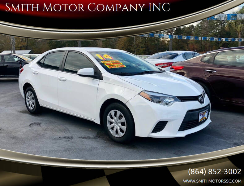 2014 Toyota Corolla for sale at Smith Motor Company INC in Mc Cormick SC