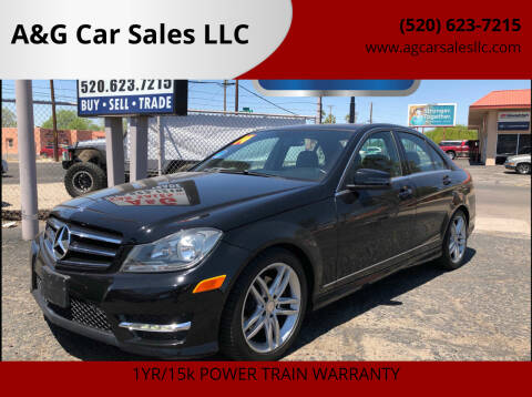 2014 Mercedes-Benz C-Class for sale at A&G Car Sales  LLC in Tucson AZ