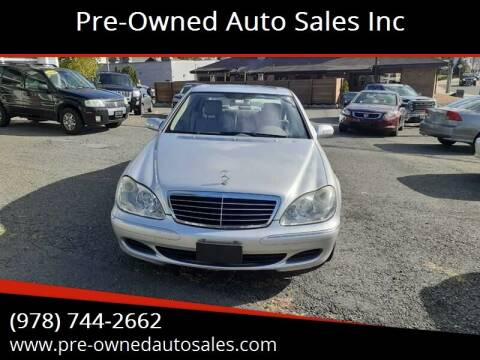 2005 Mercedes-Benz S-Class for sale at Pre-Owned Auto Sales Inc in Salem MA