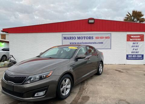 2015 Kia Optima for sale at Mario Motors in South Houston TX