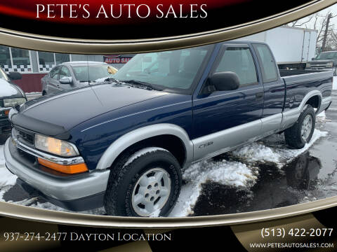 2000 Chevrolet S-10 for sale at PETE'S AUTO SALES LLC - Dayton in Dayton OH