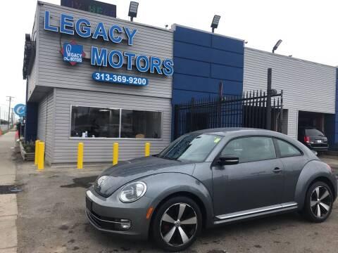 2013 Volkswagen Beetle for sale at Legacy Motors in Detroit MI