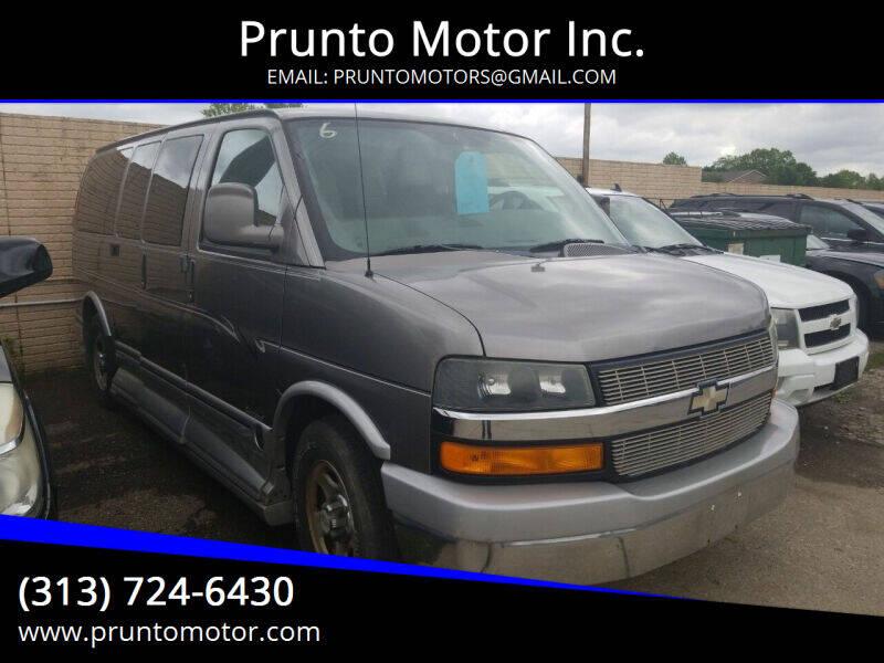 2006 Chevrolet Express Cargo for sale at Prunto Motor Inc. in Dearborn MI