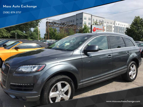 2015 Audi Q7 for sale at Mass Auto Exchange in Framingham MA