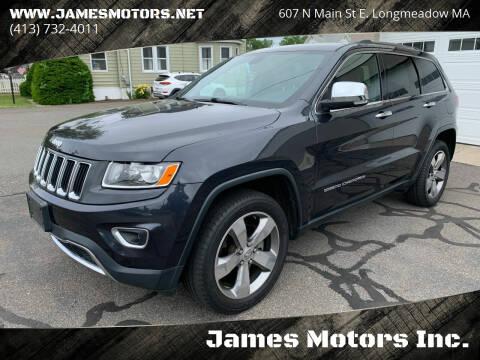 2015 Jeep Grand Cherokee for sale at James Motors Inc. in East Longmeadow MA
