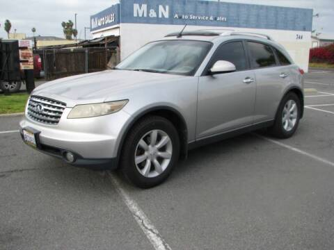 2004 Infiniti FX35 for sale at M&N Auto Service & Sales in El Cajon CA