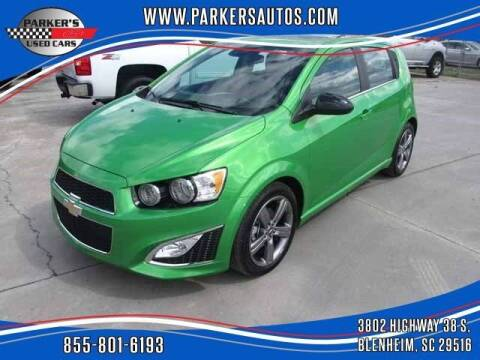 2014 Chevrolet Sonic for sale at Parker's Used Cars in Blenheim SC