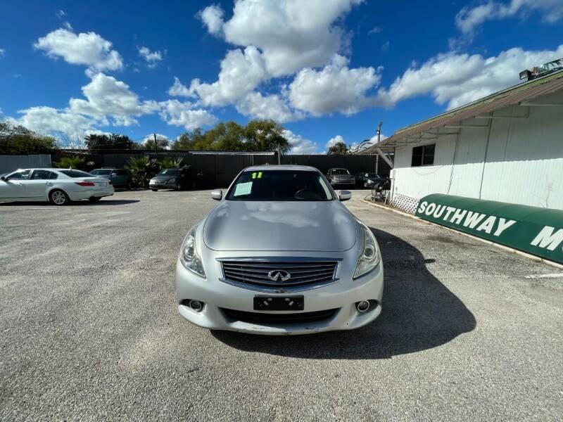 2011 Infiniti G37 Sedan for sale at SOUTHWAY MOTORS in Houston TX
