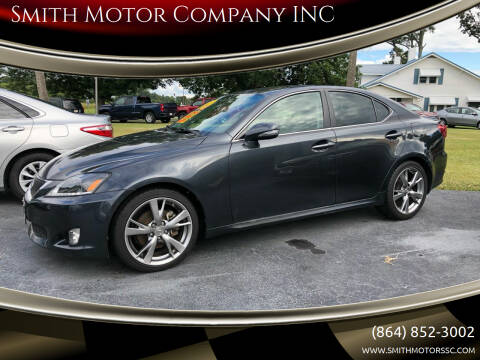2010 Lexus IS 250 for sale at Smith Motor Company INC in Mc Cormick SC