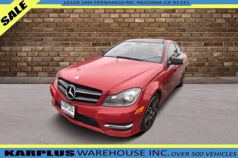 2013 Mercedes-Benz C-Class for sale at Karplus Warehouse in Pacoima CA