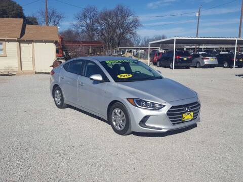 2018 Hyundai Elantra for sale at Bostick's Auto & Truck Sales in Brownwood TX
