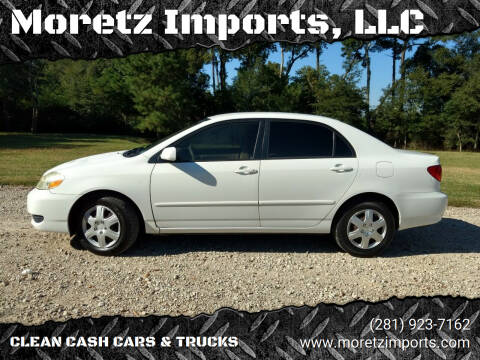 2005 Toyota Corolla for sale at Moretz Imports, LLC in Spring TX