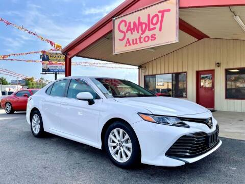 2018 Toyota Camry for sale at Sandlot Autos in Tyler TX