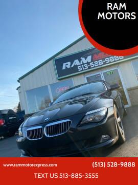 2009 BMW 6 Series for sale at RAM MOTORS in Cincinnati OH