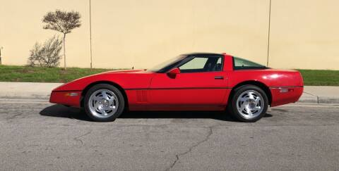 1990 Chevrolet Corvette for sale at HIGH-LINE MOTOR SPORTS in Brea CA