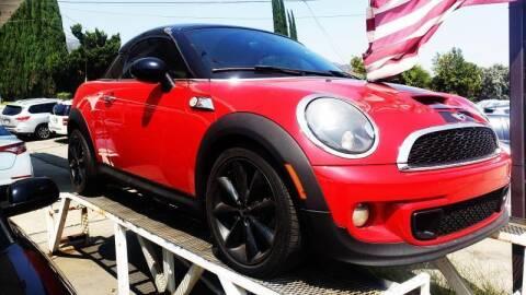 2012 MINI Cooper Coupe for sale at CAR CITY SALES in La Crescenta CA