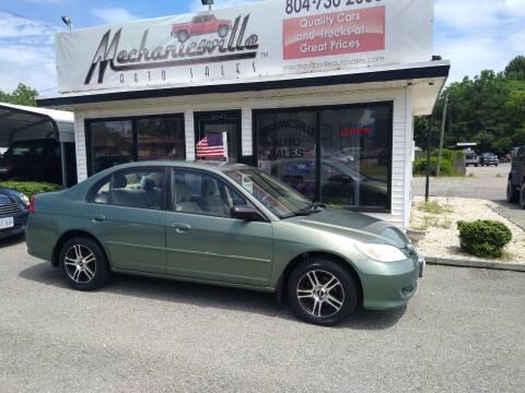 2004 Honda Civic for sale at Mechanicsville Auto Sales in Mechanicsville VA