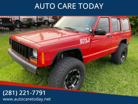 1997 Jeep Cherokee for sale at AUTO CARE TODAY in Spring TX