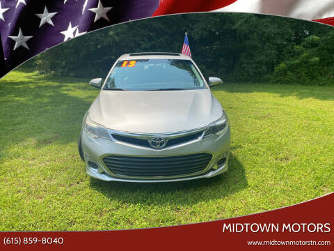2013 Toyota Avalon for sale at Midtown Motors in Greenbrier TN