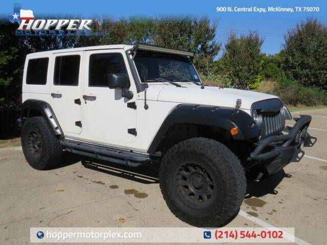 2011 Jeep Wrangler Unlimited for sale at HOPPER MOTORPLEX in Mckinney TX