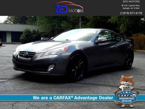 2012 Hyundai Genesis Coupe for sale at Zed Motors in Raleigh NC