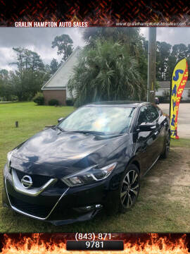 2017 Nissan Maxima for sale at Gralin Hampton Auto Sales in Summerville SC