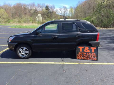 2007 Kia Sportage for sale at T & T Auto Sales in Akron OH