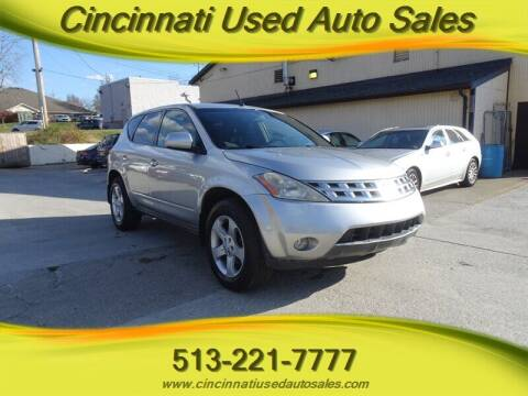 2004 Nissan Murano for sale at Cincinnati Used Auto Sales in Cincinnati OH