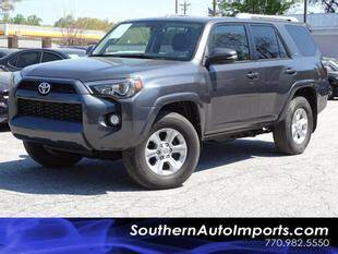2018 Toyota 4Runner for sale at Used Imports Auto - Southern Auto Imports in Stone Mountain GA