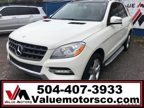 2013 Mercedes-Benz M-Class for sale at Value Motors Company in Marrero LA
