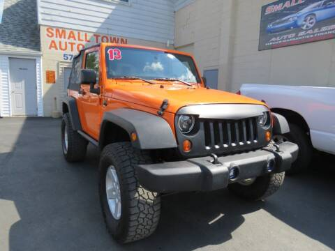 2013 Jeep Wrangler for sale at Small Town Auto Sales in Hazleton PA
