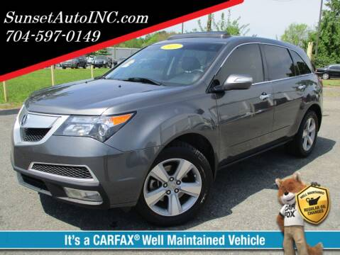 2011 Acura MDX for sale at Sunset Auto in Charlotte NC