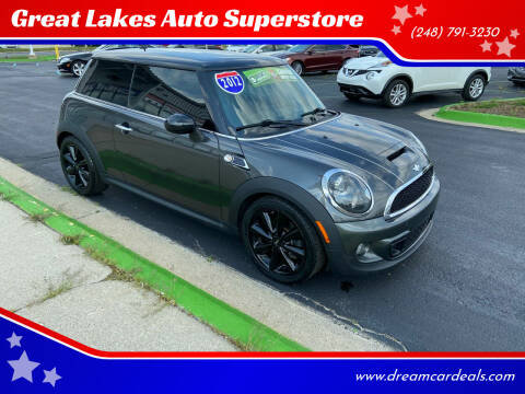 2012 MINI Cooper Hardtop for sale at Great Lakes Auto Superstore in Waterford Township MI