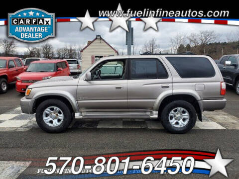 2002 Toyota 4Runner for sale at FUELIN FINE AUTO SALES INC in Saylorsburg PA