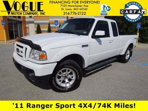 2011 Ford Ranger for sale at Vogue Motor Company Inc in Saint Louis MO