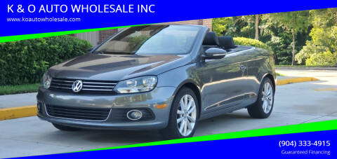 2012 Volkswagen Eos for sale at K & O AUTO WHOLESALE INC in Jacksonville FL