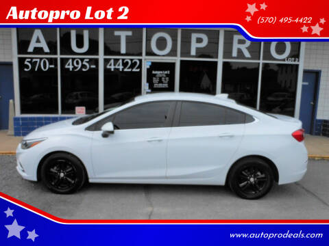 2017 Chevrolet Cruze for sale at Autopro Lot 2 in Sunbury PA