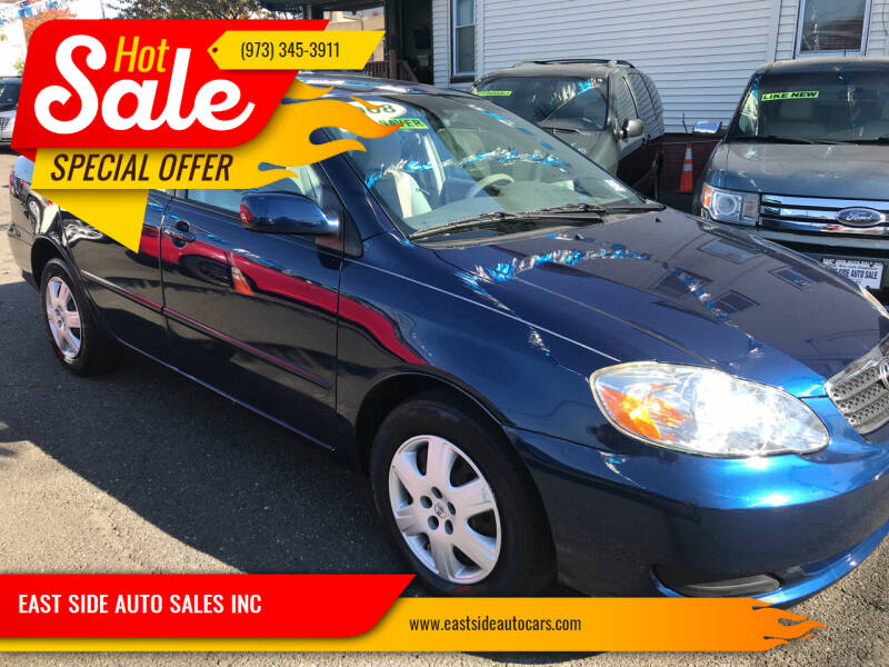2008 Toyota Corolla for sale at EAST SIDE AUTO SALES INC in Paterson NJ