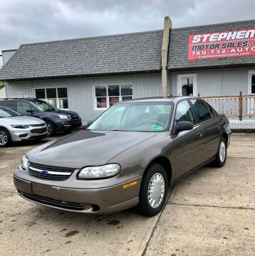 2002 Chevrolet Malibu for sale at Stephen Motor Sales LLC in Caldwell OH