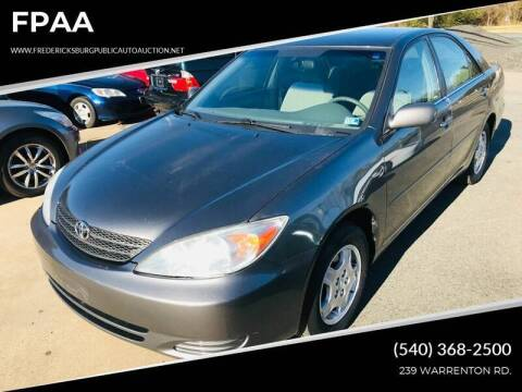 2003 Toyota Camry for sale at FPAA in Fredericksburg VA