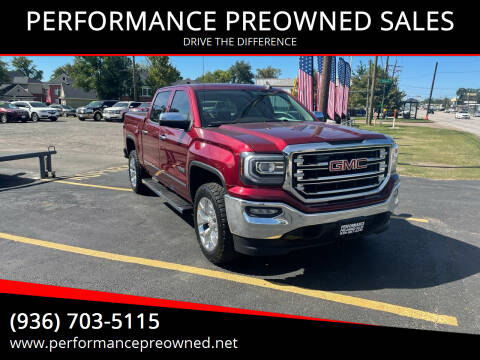 2016 GMC Sierra 1500 for sale at PERFORMANCE PREOWNED SALES in Conroe TX