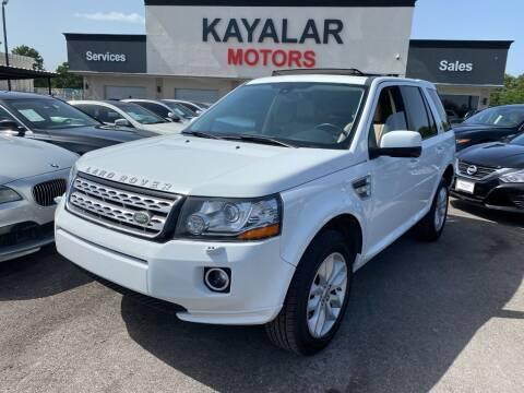 2013 Land Rover LR2 for sale at KAYALAR MOTORS in Houston TX