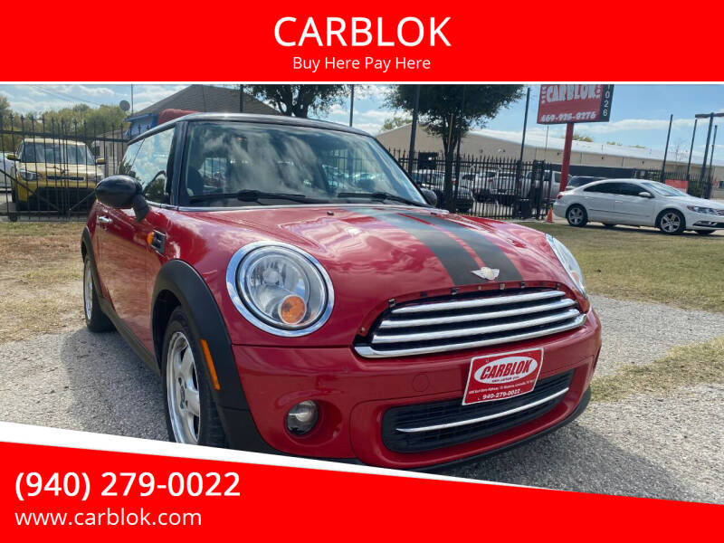 2011 MINI Cooper for sale at CARBLOK in Lewisville TX