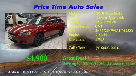 2010 Mitsubishi Lancer Sportback for sale at PRICE TIME AUTO SALES in Sacramento CA