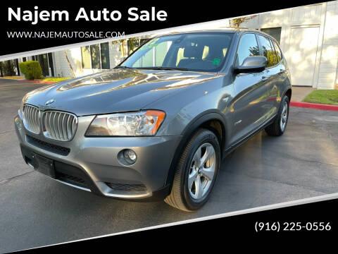 2012 BMW X3 for sale at Najem Auto Sale in Sacramento CA