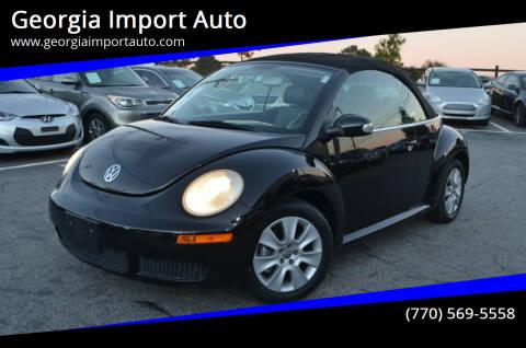 2009 Volkswagen New Beetle Convertible for sale at Georgia Import Auto in Alpharetta GA