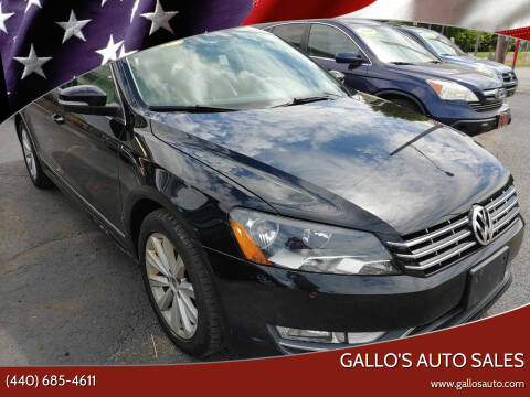 2012 Volkswagen Passat for sale at Gallo's Auto Sales in North Bloomfield OH