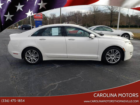 2013 Lincoln MKZ for sale at CAROLINA MOTORS in Thomasville NC