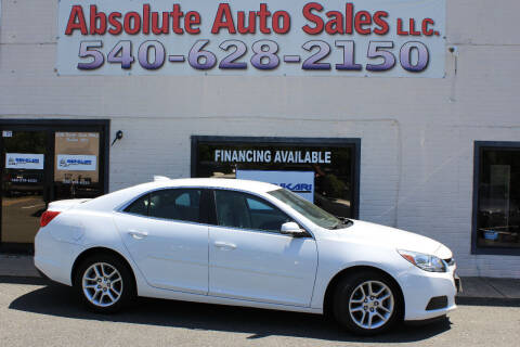 2015 Chevrolet Malibu for sale at Absolute Auto Sales in Fredericksburg VA